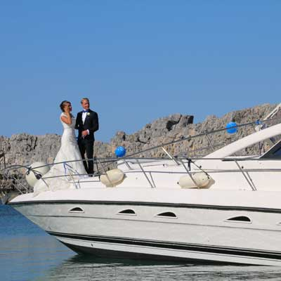 boat wedding transport services